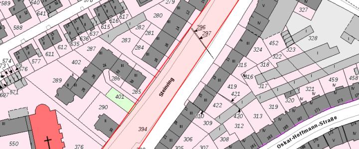++ Update++ Zur Neugestaltung des Steinrings: SPD-Altstadt fordert besseren Schutz für Radfahrer durch Protected Bike Lane sowie Erhalt des Parkraums und der Bäume