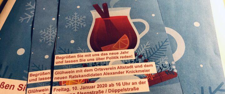 Glühwein und Kaffee mit dem OV-Altstadt und dem neuen Ratskandidaten
